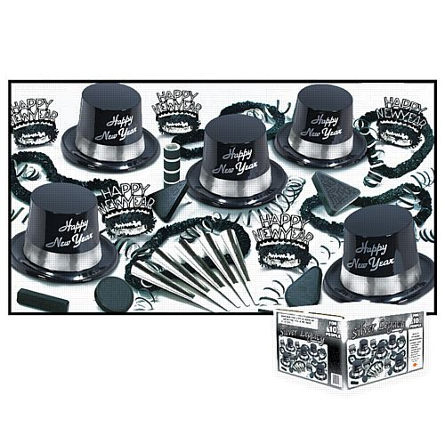 Silver Legacy Hat and Novelty Party Pack for 10 People