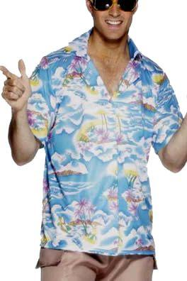 Blue Hawaiian Shirt - Large