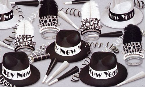 Chicago New Year Hat and Novelty Party Pack for 50
