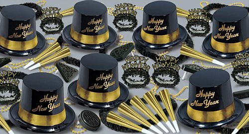 Gold Legacy - Hat and Novelty Party Pack for 50 People