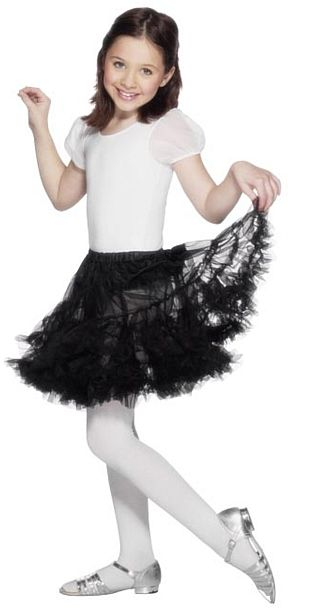 Children's Black Petticoat