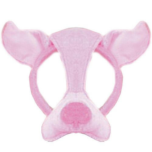 Pig Mask On Headband With Sound