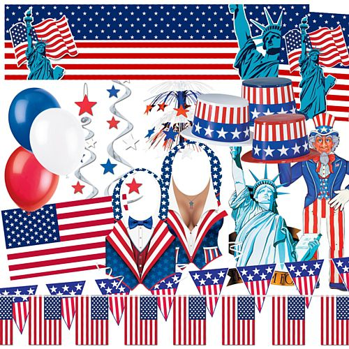 Standard American Party Decoration Pack