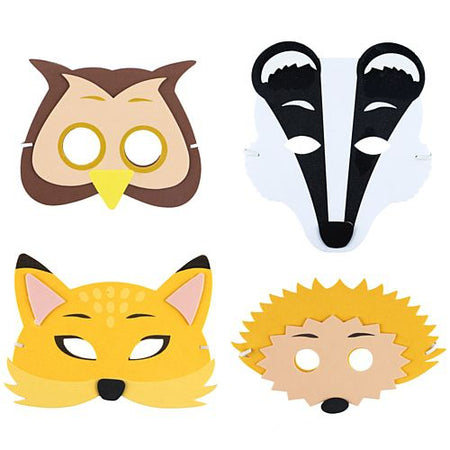 Children's Woodland Animal Foam Masks - Assorted - Each