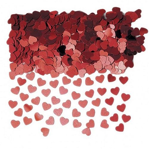 Red Sparkle Hearts Confetti - 14g