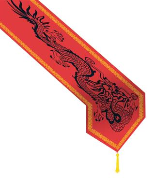 Chinese Dragon Paper Table Runner - 1.8m