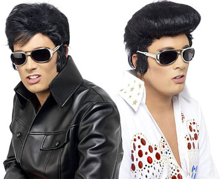 Silver Elvis Glasses