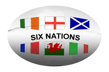 Rugby Ball with Flags Cutout (A3)