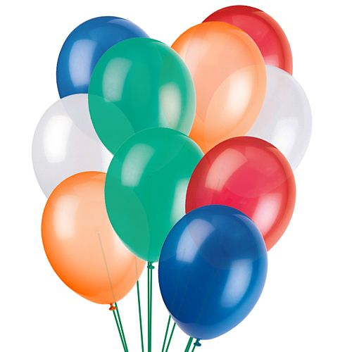 "Rugby Latex Balloons - 10"" - Pack of 50"