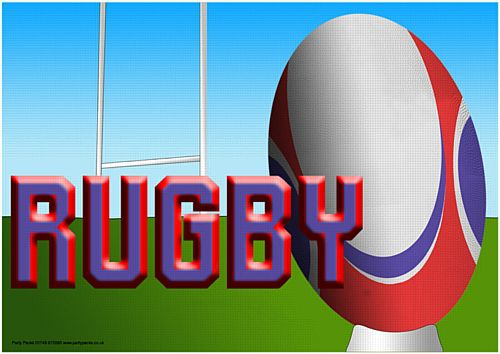 Rugby Poster - A2