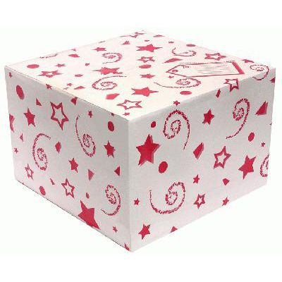 Balloon Box Red Stars and Swirls - 37cm