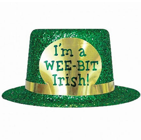 St Patrick's Mini Glitter Top Hat - I'm a Wee Bit Irish!