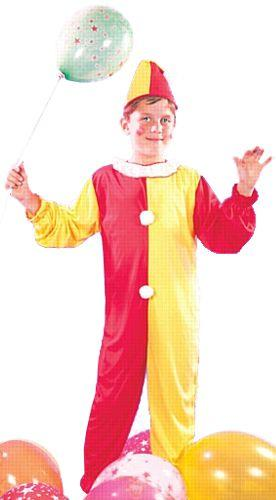 Red and Yellow Clown Costume