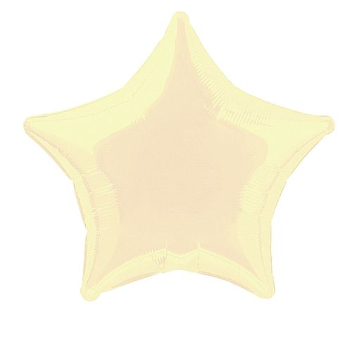 Ivory Star Foil Balloon - 19""