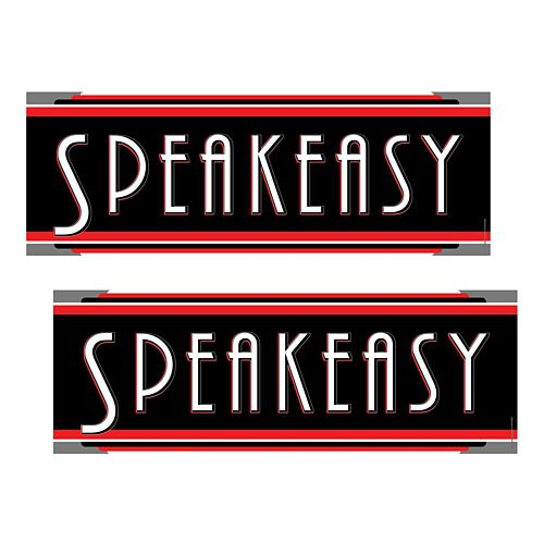 Speakeasy Signs - 42cm - Pack of 2