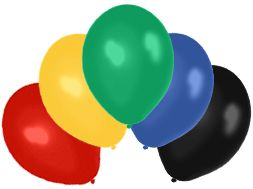 "Assorted Latex Balloons - 10"" - 5 Colours - Pack of 50"