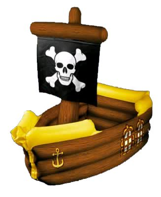 "Inflatable Pirate Ship Cooler 41""x15"""