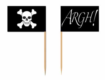 Pirate Flag Picks - 5.1cm - Pack of 50
