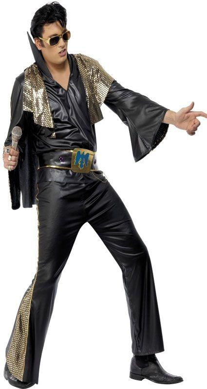 Black & Gold Elvis Costume