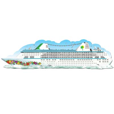 Cruise Ship Jointed Cutout Wall Decoration - 1.82m