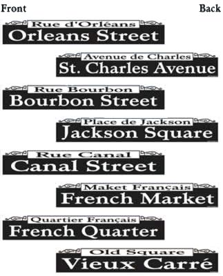 Mardi Gras Street Signs - Pack of 4