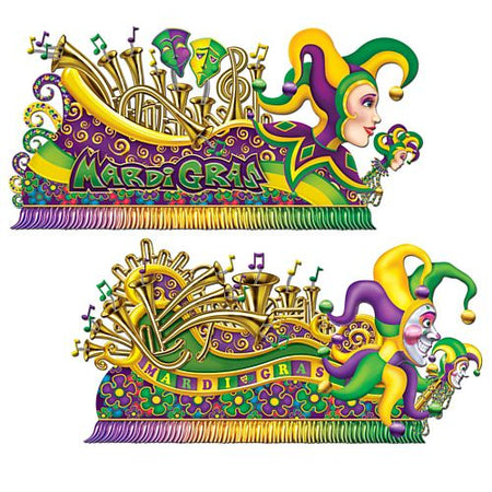 Mardi Gras Float Wall Decorations 170m Pack Of 2