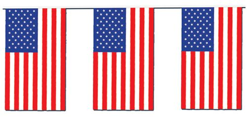 American Flag Outdoor Bunting - 20m