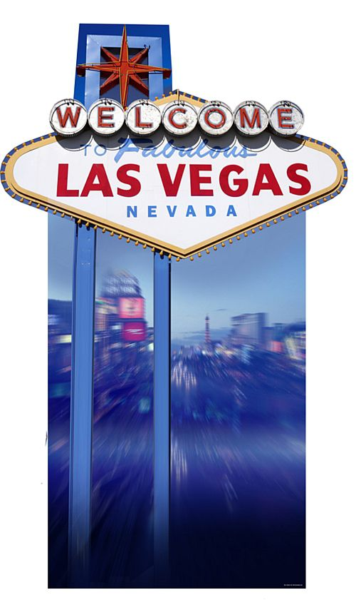 Welcome to Las Vegas Cardboard Cutout - 1.88m