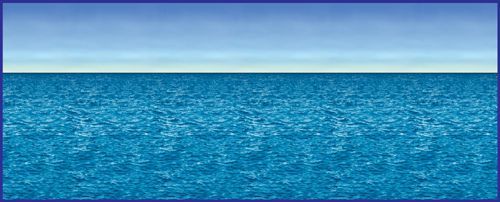 Ocean & Sky Backdrop - 30ft