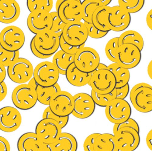 Yellow Smiley Faces Confetti 1OZ
