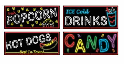 "Neon Food Sign Cutouts 21"" (Pack of 4)"
