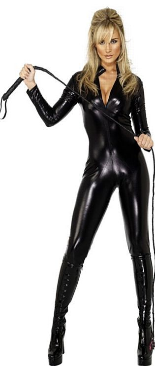 Miss Whiplash Catsuit Black