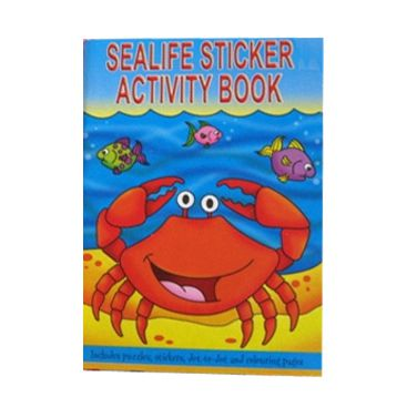 Sea Life Sticker Activity Book 36 Pages