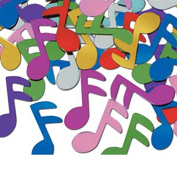 Multicolour Musical Note Confetti 1oz Bag