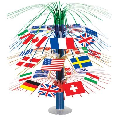 International Flag Cascade Centrepiece - 45.7cm