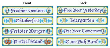 "Oktoberfest Sign Cutouts - Pack of 4 - 4"" x 24"""