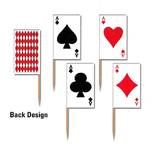 Casino Card Picks - Pack of 50 - 2.5""
