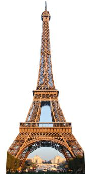 Eiffel Tower Lifelike Cardboard Cutout - 1.89m