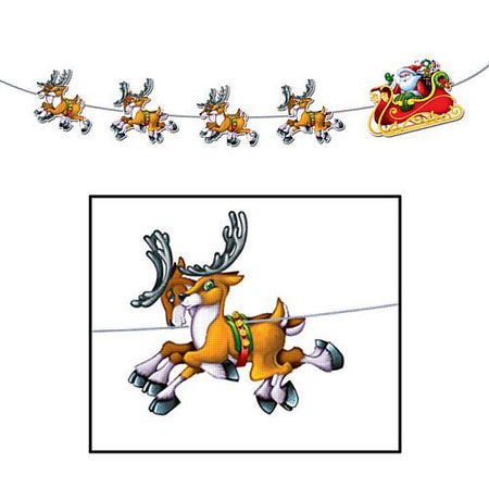 Click to view product details and reviews for Santa And Sleigh Streamer 8ft.