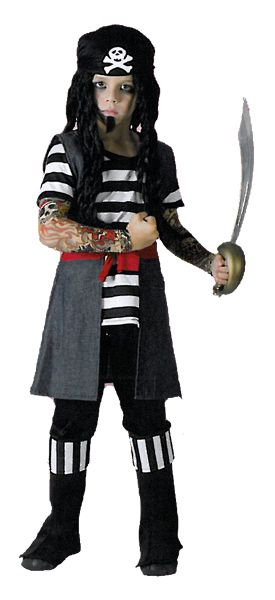 Tattoo Pirate Boy Costume