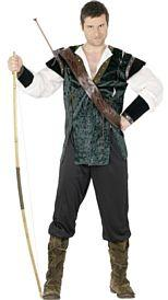 Green Robin Hood Costume With Arrow Holder
