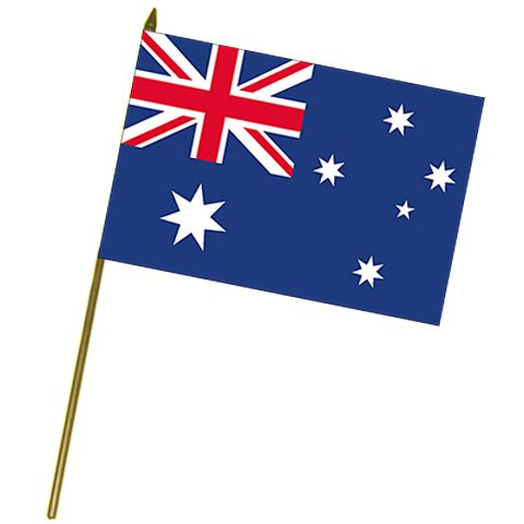 Australian Cloth Hand Flag 18""