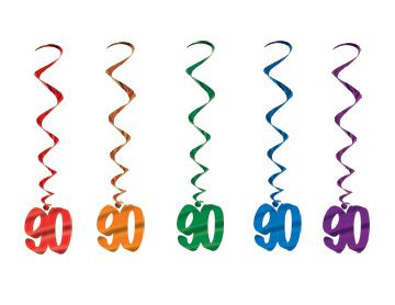 90th Number Whirls - Pack of 5