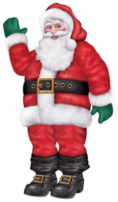 Santa Jointed Cutout Wall Decoration - 1.68m