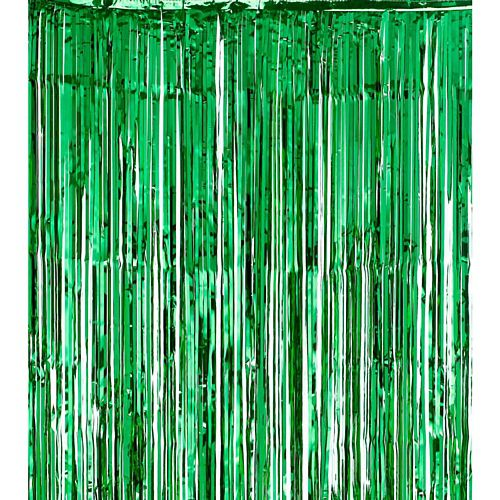 Green Foil Door Curtain - Flame Retrdant - 2.4m