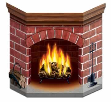 Brick Fireplace Stand-In Photo Prop - 86.4cm