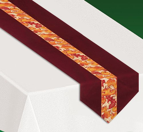 Autumn Leaves Fabric Table Runner - 1.83m