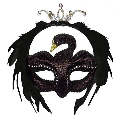 Black Swan Feather Eye Mask