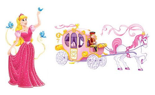 "Princess & Carriage Props - 64"" & 64.5"" - (Pack of 2)"
