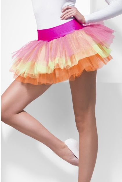 Click to view product details and reviews for Neon Multicoloured Net Tutu Small.